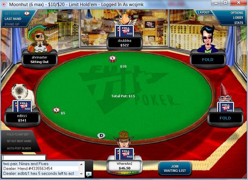 ... Full Tilt Poker Table